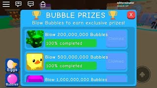 😁New Bubble Gum Simulator😁 Update 16 Bubble prizes Roblox