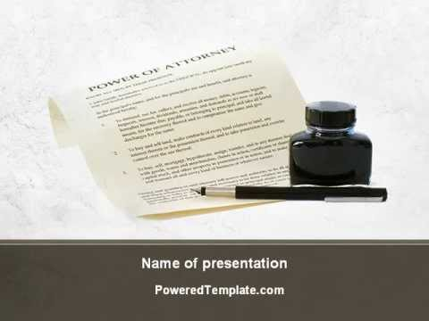 Power Of Attorney Powerpoint Template By Poweredtemplate Com