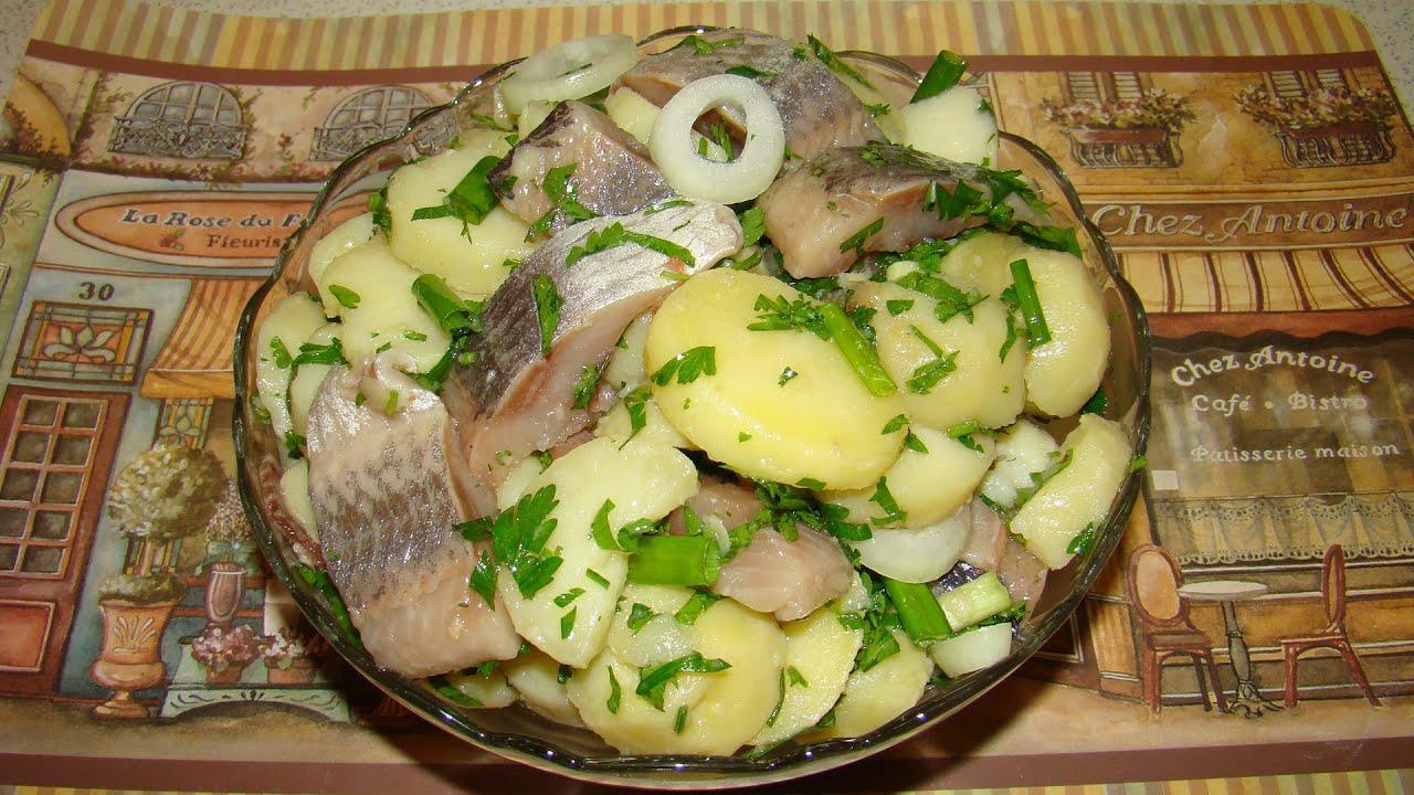 Сервировка селедки с картошкой фото