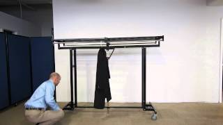Portable Industrial-strength Folding Coat Rack By Versare