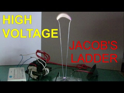 How to Make a Jacob's Ladder Travelling Electric Arc (Super Easy)