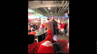 Reds Broadcaster Jim Day Gets Doused By Jonny Gomes and Arthur Rhodes