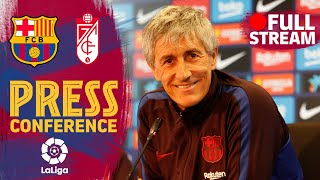 FULL STREAM: Setién's press conference ahead of his first match vs Granada