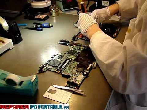reparation demontage pc portable hp dv 9000 partie 5 6 youtube. Black Bedroom Furniture Sets. Home Design Ideas