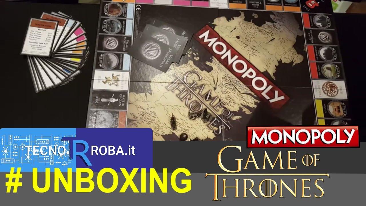 Gioco da tavolo di game of thrones monopoli unboxing youtube - Monopoli gioco da tavolo ...
