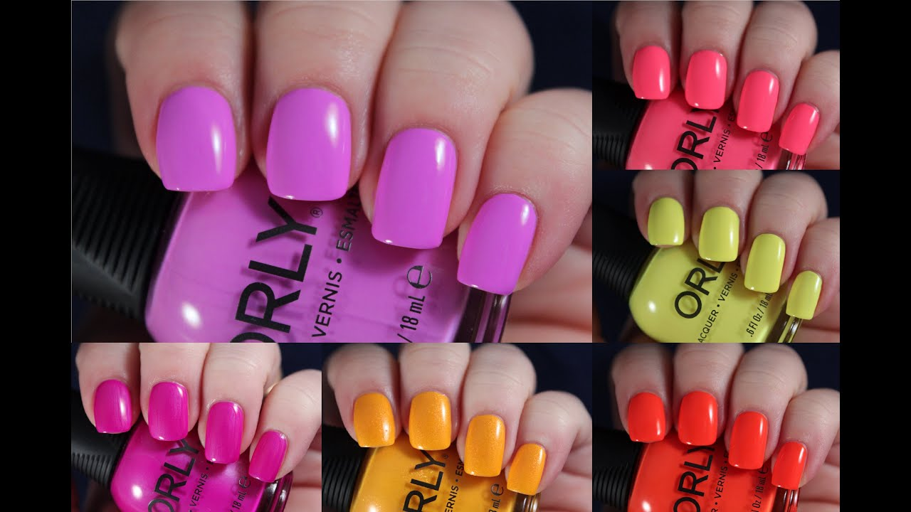 Orly PCH Summer 2016 Collection | Live Application Review - YouTube