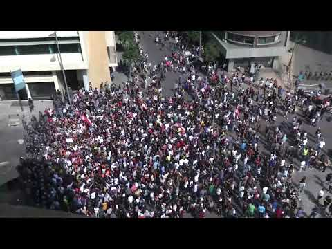 live-now-protesters-gather-outside-the-government-headquarters-|-lebanon-economy