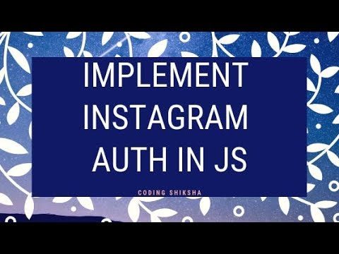 How To Implement Instagram Authentication Using Instagram API | Get Access Token Of Instagram API