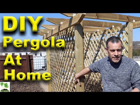Build A DIY Pergola At Home - Garden Structures
