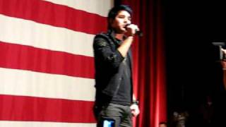 Download Adam Lambert singing The National Anthem MP3 song and Music Video