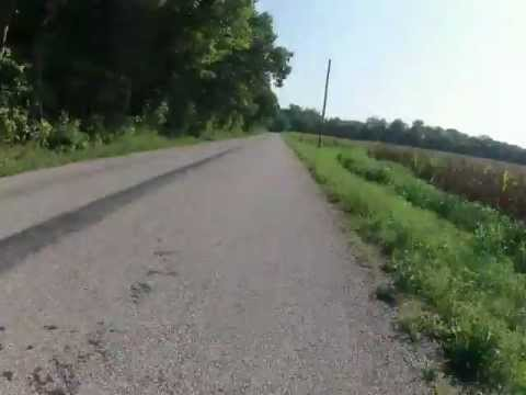 Wabash River Ride 2012:  33-mile course