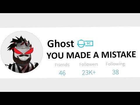 So I made the Roblox ghost angry..