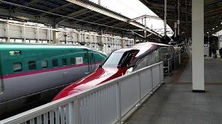 JR東日本 東北新幹線 こまち・はやぶさ23号 仙台駅発車シーン