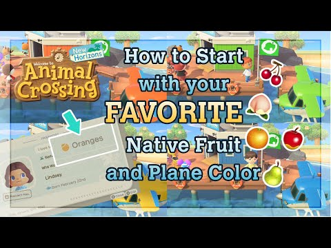 ISLAND RESET GUIDE How to Choose Your Native Fruit and Plane Color in Animal Crossing New Horizons