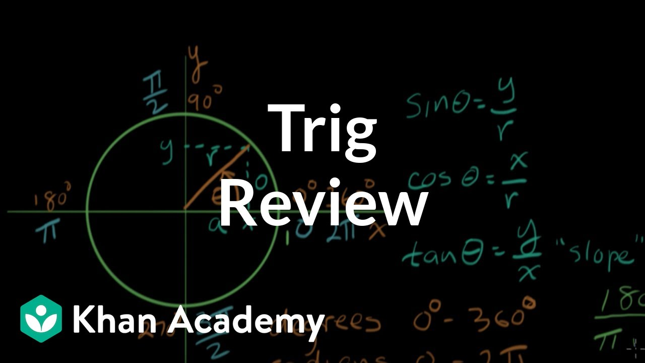 Trigonometry review (video) | Khan Academy