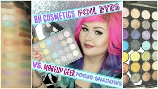 bh cosmetics foil eyes vs makeup geek foiled shadows   dupe video