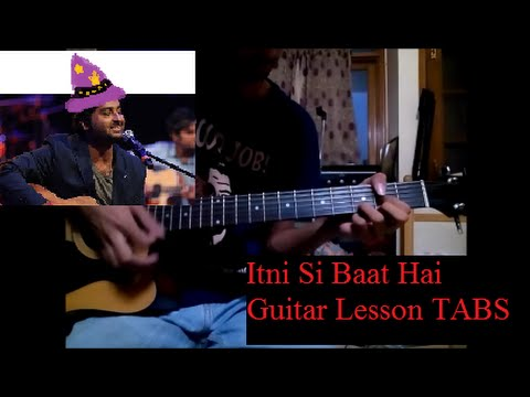 Guitar guitar tabs on screen : Itni Si Baat Hai-Azhar [Guitat lead tutorial TABS ON SCREEN+Slow ...