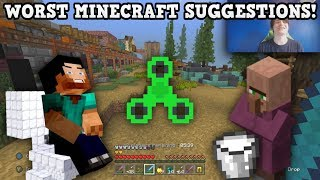 THE WORST MINECRAFT SUGGESTIONS OF 2017
