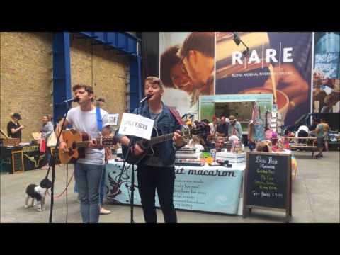 Able Faces Band singing at Royal Arsenal Farmers market in London