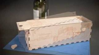 Wood Wine Box, Laser Personalized Recognition Gift