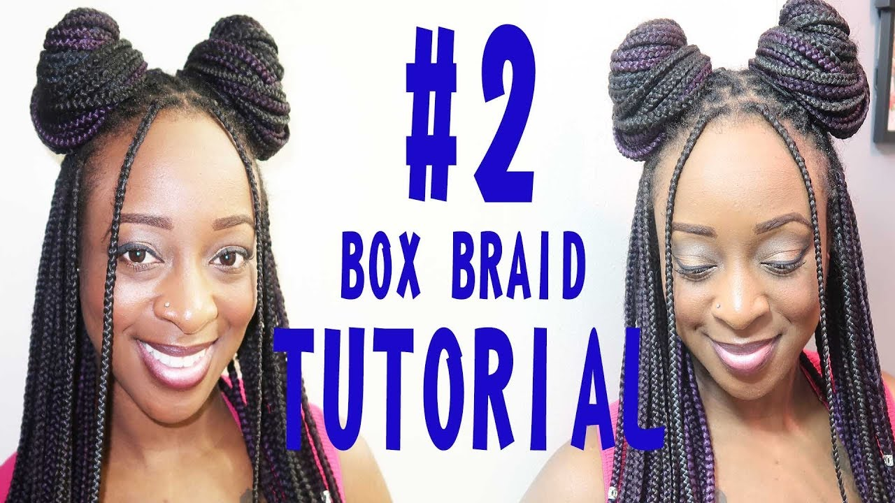 Box tutorial bun braid new photo