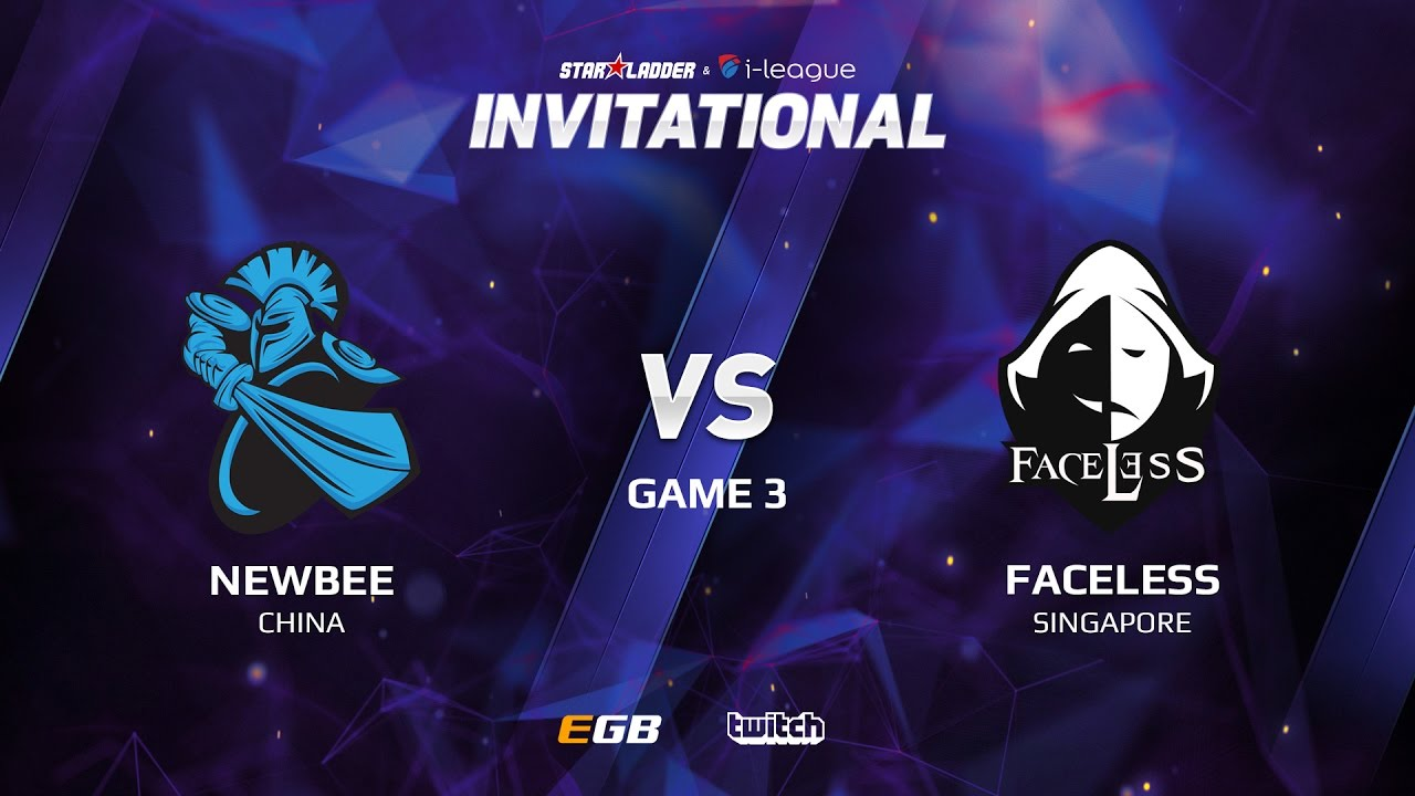 Newbee vs Faceless, Game 3, SL i-League Invitational S2 LAN-Final, Group B