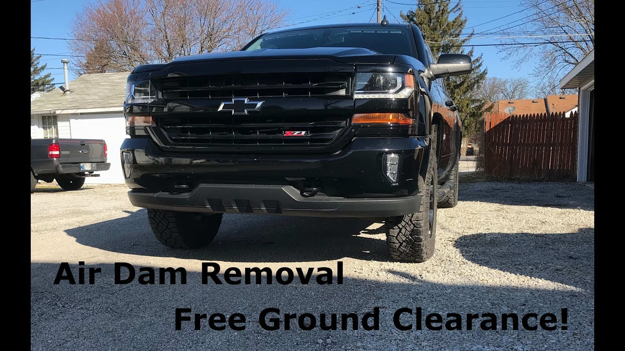 Silverado mods: Air Deflector Removal and Leveling Kit ...