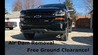 Silverado Mods Air Deflector Removal And Leveling Kit Review Youtube