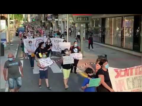 Manifestación por la sanidad pública en Pontevedra
