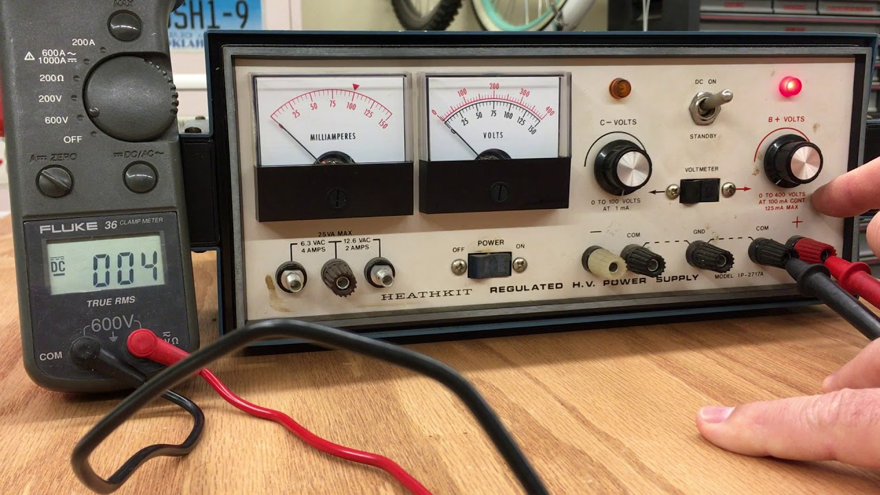 Testing the Heathkit IP-2717-A High Voltage Variable Regulated DC Power  Supply