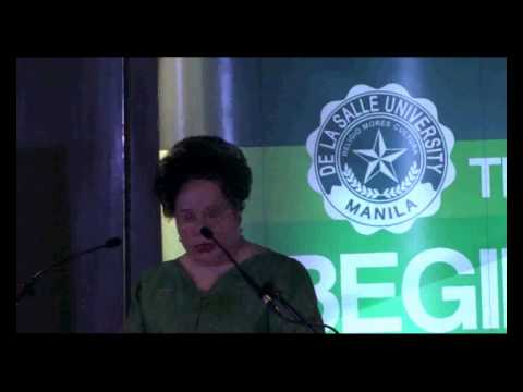 Miriam at the De La Salle University's First Business Law Conference