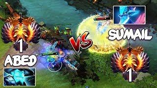 RANK 1 Abed Storm Spirit vs RANK 1 SumaiL Leshrac - EPIC Mid Battle Dota 2 Patch 7.23