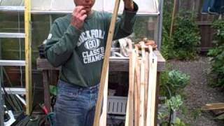 Making Garden Tomato Stakes Out Of Cedar Or Redwood Fence Boards And Save Money