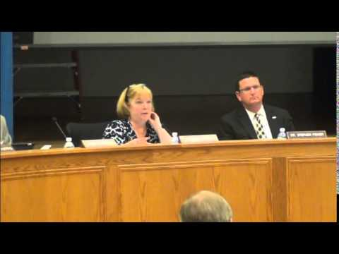 Cleveland County School Board meeting 9 22 2014