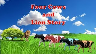 four cows and lion story