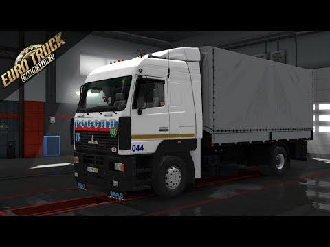 Обзор мода для Euro Truck Simulator 2 - МАЗ 5440