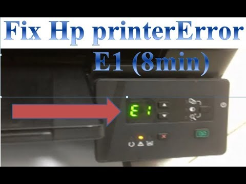 fix hp printer laserjet M125a Error E1