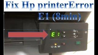 fix hp printer laserjet M125a Error E1