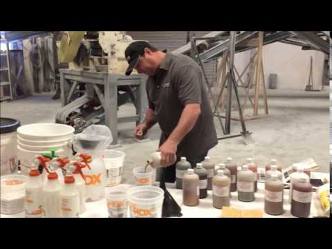 How to Color Stone Edge Surfaces Vertical Stamped Concrete to Get Realistic Looks 2.0 STEP 5