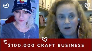 Amy made $100,000 with her handmade business - how to start a craft business, craft fairs