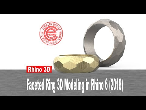 Faceted Ring Band 3D Modeling in Rhino 6 (2018)- Jewelry CAD