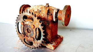 Restoration and reuse old rusted OHIO GEAR gearboxes | Restore reused USA reducer