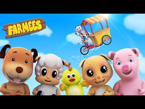 Food Song For Toddlers | Nursery Rhymes | Baby Rhymes | 3D Rhymes by Farmees