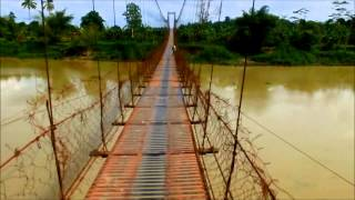 Hanging bridge connecting Talacogon and San Luis in Agusan del Sur
