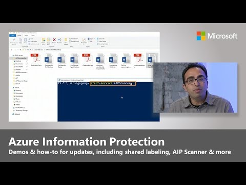 Azure Information Protection: Unified labeling, on-prem scanning and protection across platforms