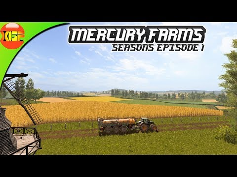 Farming simulator 17 , Mercury Farms (seasons) episode 1. Planting crop on some fields!
