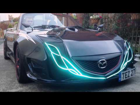 Mazda LED switch back lights, custom made.