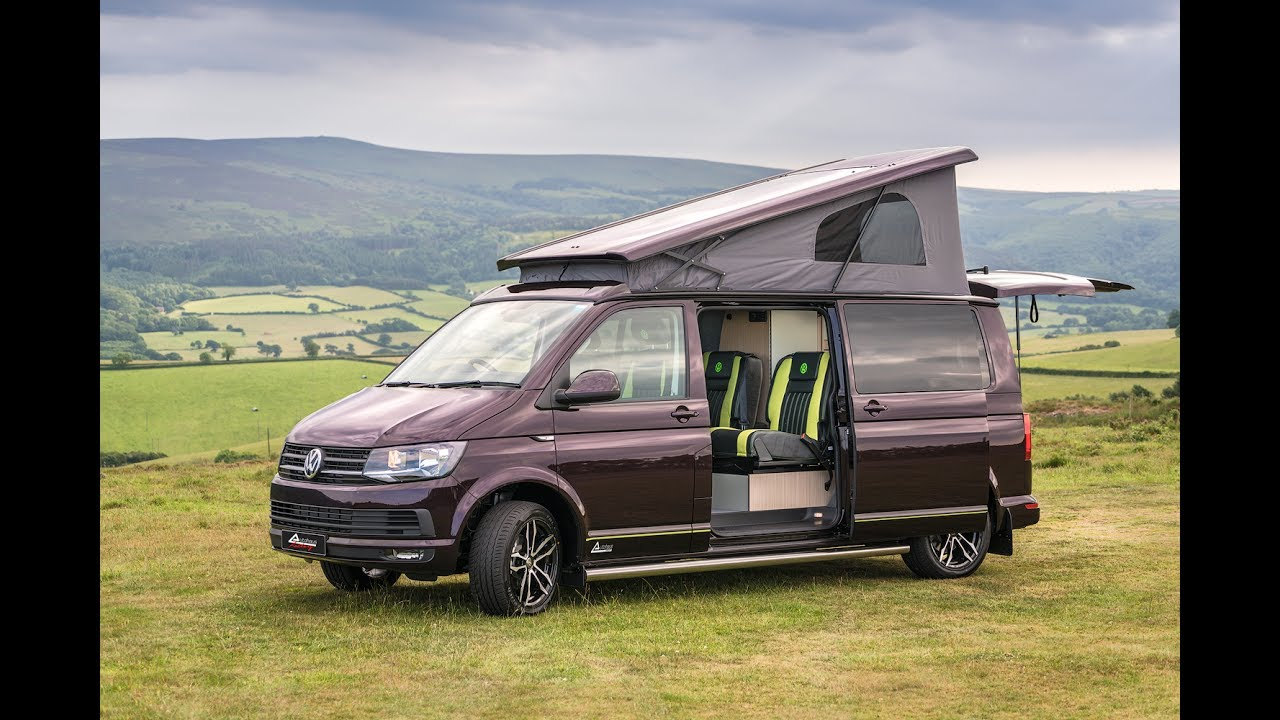 abcefac32d T6 VW Campervan - Blackberry   Green Leather - Autohaus  Camelot ...