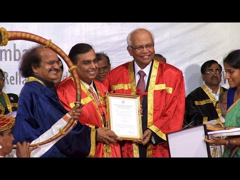 Mukesh Ambani Confered with Doctorate Degree by ICT