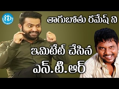 Jr NTR About Funny Incidents With Thagubothu Ramesh During Nannaku Prematho Shooting